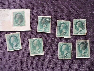US 3 Cent Washington Fancy Cancel Lot of 8
