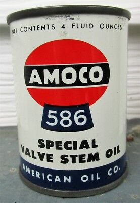 AMOCO 586 Special Valve Stem Motor Oil Tin Can Coin Bank American Oil Company