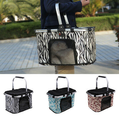 Folding Puppy Cat Dog Carrier Travel Protector Safety Basket 3 Colors