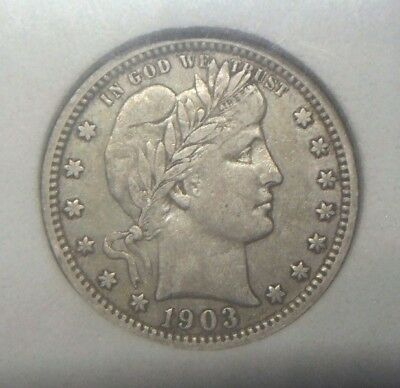 1903 O Barber Quarter, Full Liberty, Graded Xf