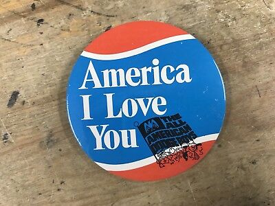 All American Dodge Boys America I Love You Vintage Pin