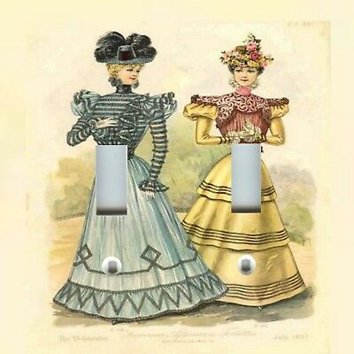 Light Switch Plate Cover VICTORIAN HOME DECOR ~ 1800 VICTORIAN WOMEN DRESSES 2