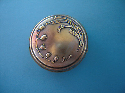 Art Noveau Antique  Lily of the Valley brass Pin Cushion