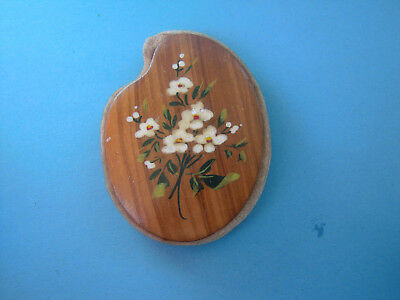 Antique  French wooden Pin Cushion- hand painted