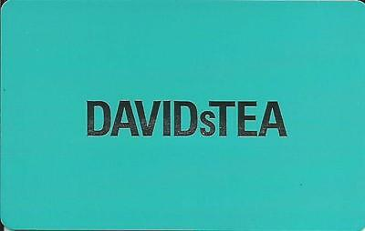 DAVID s TEA MINT GIFT CARD FROM CANADA BILINGUAL NO CASH VALUE