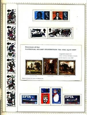 Great Britain Lot of 89 Stamps Collection on Minkus Album Pages