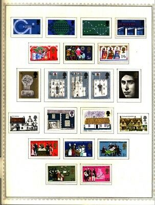 Great Britain Greece 1961-1962Lot of 70 Stamps Collection on Minkus Album Pages