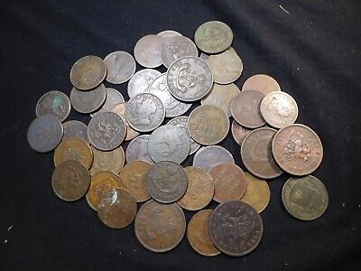 K11 Canada 1800's Bank Tokens Some Better Mixed Group 50 pcs