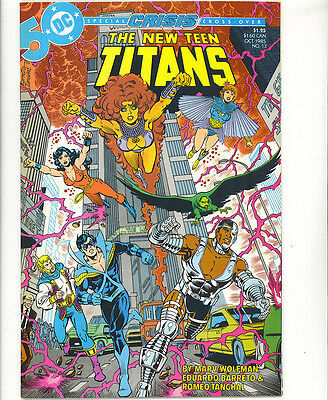 The New Teen Titans #13 1985 crisis on infinite earths crossover DC Comics
