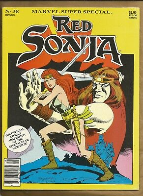 Marvel Super Special #38 Red Sonja The Movie 1985 scarce Magazine Marvel Comics