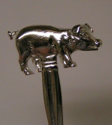 Salt Spoon Sterling Silver (  Pig   )