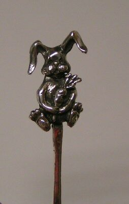 Salt Spoon Sterling Silver (  Rabbit w/ Carrot )