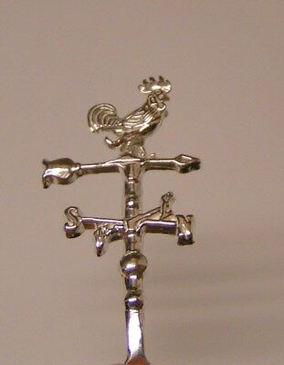 Salt Spoon Sterling Silver ( Rooster weathervane )