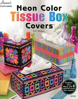 TISSUE BOX COVERS Love Dad Mom Quick Easy Annie's Plastic Adorable Easy Plastic Canvas Patterns