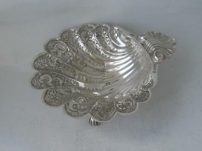 Decorative Solid Sterling Silver Shell Dish 1977/ L 13 cm/ 111 g