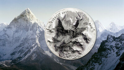 2017 $25 Cook Islands 7 Summits - Mt. Everest 5oz 999 Silver Coin