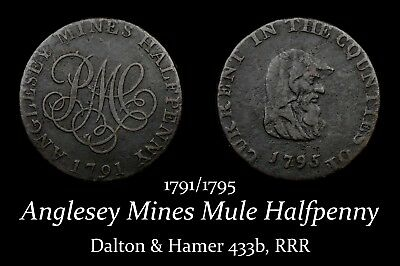 1791/1795 Anglesey Mule Conder Halfpenny D&H 433b, RRR