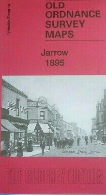Old Ordnance Survey 2 Maps Jarrow Tyneside & 1895 1912 Godfrey Edition New