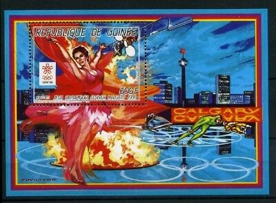 Guinea MiNr. Block 254 A postfrisch/ MNH Olympiade 1988 (Oly483