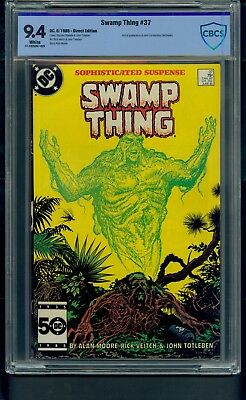 Swamp Thing #37 (1985) CBCS Graded 9.4 ~ 1st Full Appearance Hellblazer  Not CGC