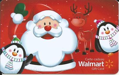 New 2016 Santa & Christmas Mint Gift Card From Walmart Canada # 1 Bilingual