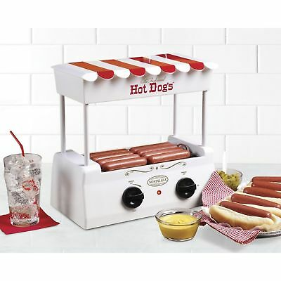 Hot Dog Roller Grill Steamer Cooking Machine, with Bun Warmer, NEW