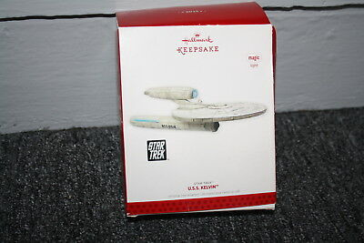2013 Hallmark Keepsake Magic Light U.s.s. Kelvin Christmas Ornament New