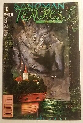 SANDMAN THE TEMPEST #75 final issue NM 1996 DC VERTIGO w poster
