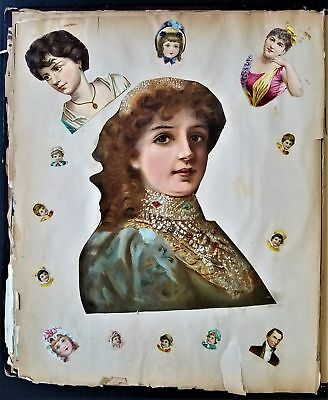 1880s antique DIE CUT SCRAPBOOK victorian JACKSON FAMILY easton pa ad cards