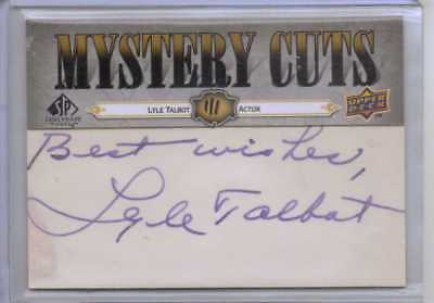 """Lyle Talbot 1/1 Mystery Cuts Signature Autograph Auto """"Ozzie and Harriet"""" TV"""
