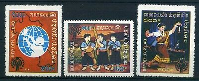 Laos MiNr 486-88 A ** Internationales Jahr des Kindes 1979 (Q8604