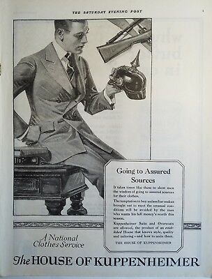 1919 House of kuppenheimer men's suits possibly leyendecker art ad