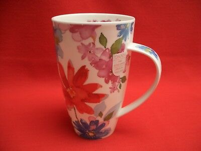 Dunoon England Fine Bone China ~~ Bloom Red ~~   Large Henley Mug