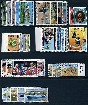 Guernsey 1973-1981 Issues MNH