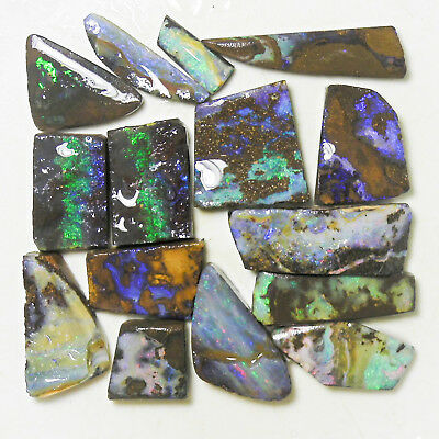 AUSTRALIAN NATURAL BOULDER OPAL 197c ROUGH RUB PARCEL OCA9883