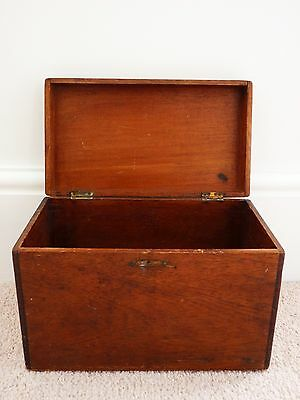Vintage Antique Oak Engineers Wooden Cabinet/box