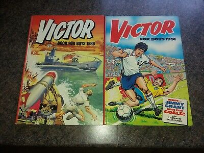 Two Victor Book For Boys Annuals 1986 & 1991 In Very Good Condition.