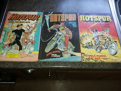 Three Hotspur Book For Boys Annuals 1979, 1980, 1981 In Very Good Condition.