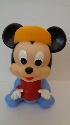 Disney Micky Maus Mickey Mouse Baby Quitscher  ca. 12 cm Vintage