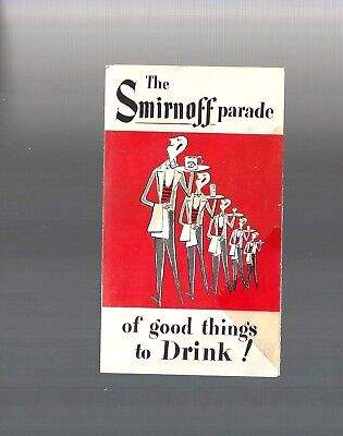 Vintage Collectible 1951 The SMIRNOFF VODKA Parade Cocktail Recipe Book Pamphlet