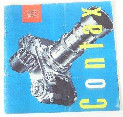 Reprint of Zeiss Contax IIa IIIa Color Catalog 1954: cameras lenses accessories