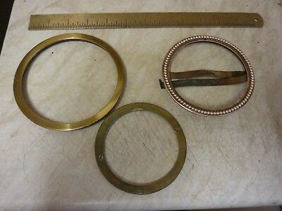 Antique French Clock Parts--Open Faced Ornate Bezel Etc