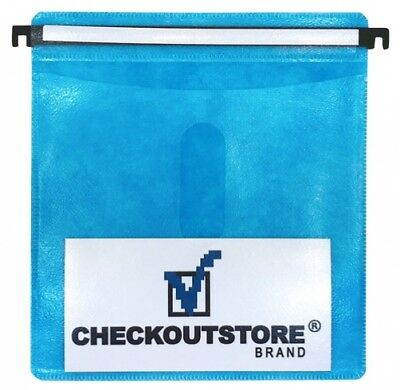 (SAMPLE) - 1 CD Double-sided Refill Plastic Hanging Sleeve Blue