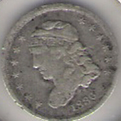 1836 Capped Bust Half-Dime--182 Years Old--LQQK--NICE!!!