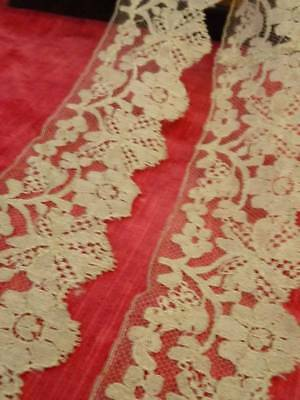 A Pretty Length Antique Early Victorian Silk Blonde Lace