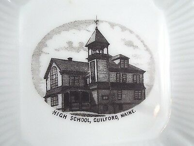 Vintage Guilford Maine Highschool Pin Dish Souvenir Made in Germany