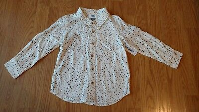 OLD NAVY Toddler Boys Button Shirt 4T Constalation Stars Long Sleeve NEW NWT