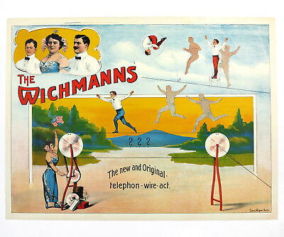 THE WICHMANNS ARTISTS, Originalplakat Deutschland ca. 1905