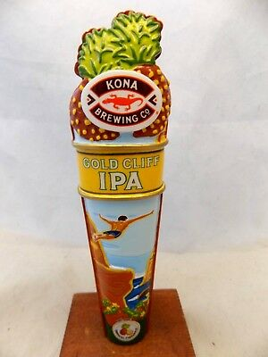 Rare Never Used KONA BREWING Gold Cliff IPA Shotgun Beer Tap Handle 6 1/2""
