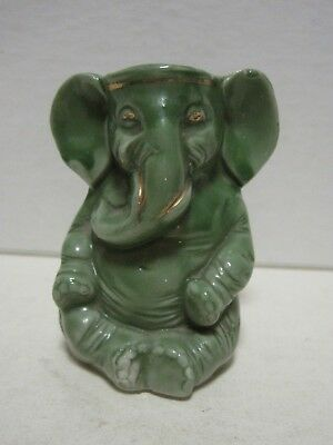 Antique Porcelain GREEN ELEPHANT HOLDER Advertising CD KENNY CO BALTIMORE COFFEE